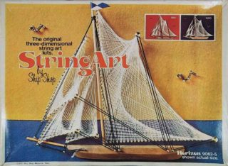 vintage string art ship